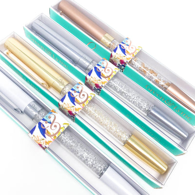 Enchanted Spark Pen: Bronze Pearl Crystal Gel Pen