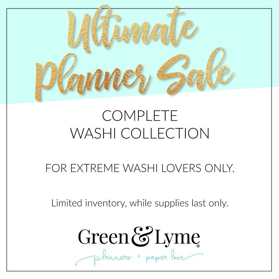Ultimate Planner Sale Complete Washi Collection: For extreme washi lovers only.
