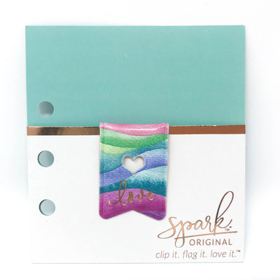 Whimsical Love Spark Clip: Magnetic Paper Clip