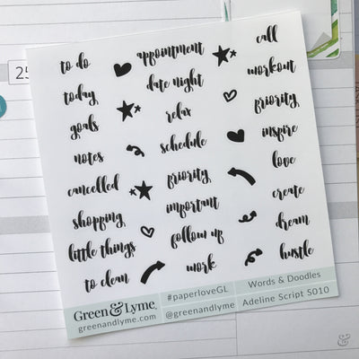 Words & Doodles Minis: Adeline Script