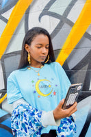 Homegirls Supporting Homegirls Tee - Sky Blue