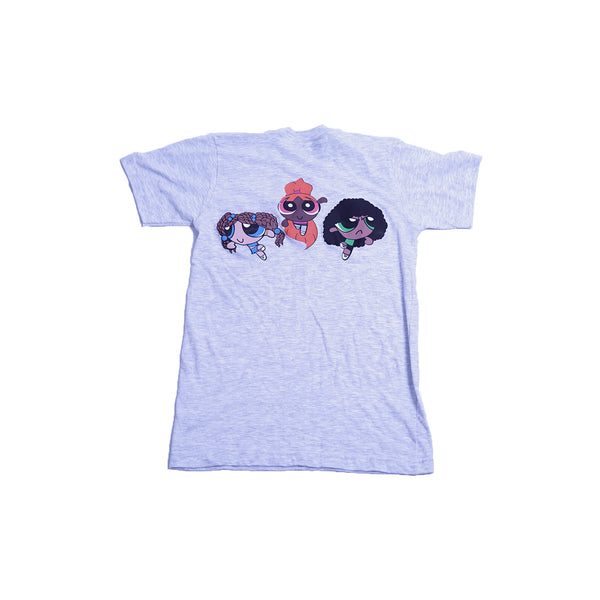 Power Puff Homegirls Tee - Ash Grey