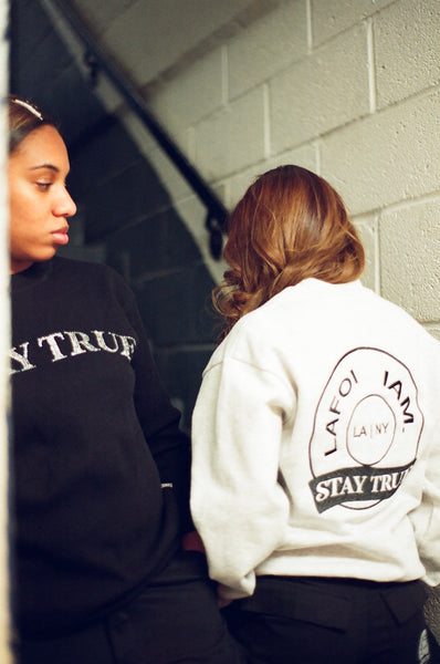 LAFOI & IAM. Stay True Logo Ash Grey Crewneck