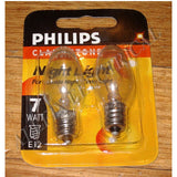 Night Light Globe 7Watt 240V E12 Miniature Pilot (Pkt 2) - Part # 079271