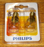 Philips Pilot Globe 15Watt SES E14 Miniature Pilot (Pkt 2) - Part # 079431