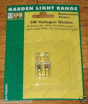 HPM Haloscape 5Watt 12Volt Halogen Garden Light Globes (Pkt 2) - Part # DGLHS1