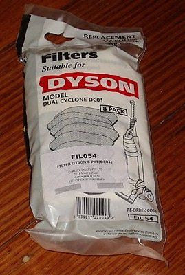 Dyson DC01 Compatible Vacuum Cleaner SubMicro Filter (Pkt 8) - Part No. FIL54