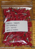 Red Insulated 1.9mm Pin Crimp Terminals (Pkt 100) - Part # TM32276-100