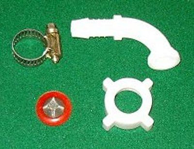 "1/2"" R/A Plastic Nut & Tail with Filter Washer & Clamp - Part # HC035K"
