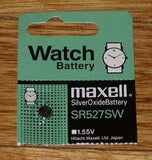 Silver Oxide 1.55Volt Watch Battery - Part # SR527SW