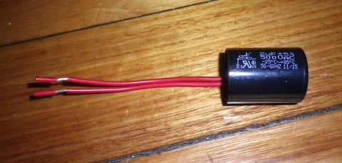 2uF 500Volt Motor Run Capacitor with Wires - Part # 2SMR500