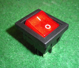 8Amp Red Illuminated DPST Rocker Switch - Part # A31H