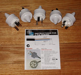 White 2pin 10Amp 240V Mains Plug Tops (Qty 5) - Part # ACP2122-5
