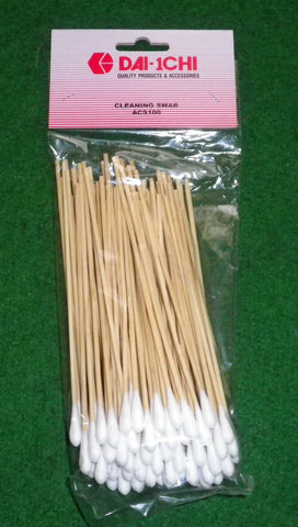 140mm Cotton Tipped Cleaning Swabs (Pkt 20) - Part # ACS100