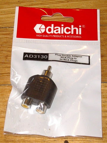 Audio Adaptor - RCA Plug to 2 X RCA Sockets - Part # AD3130
