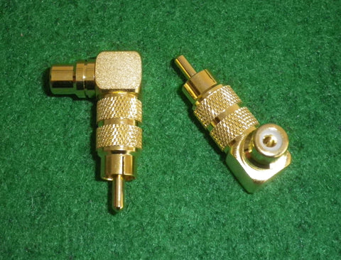 Audio Adaptor - Rightangled Gold Plated RCA Plug to RCA Socket - Part # AD960