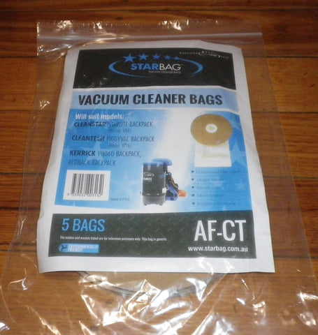 CleanStar StarLite, CleanTech Backpack Vacuum Bags (Pkt 5) - Part # AF-CT