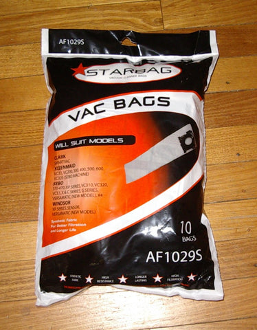 Synthetic Vac Bags for Sebo, Kleenmaid, VersaMatic Pkt10 - Part # AF1029S