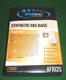 Kambrook, Nilfisk, Goldstar, Sanyo Synthetic Vacuum Bags - Part # AF102S