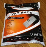 Pullman PC4.0 Compatible Synthetic Canister Vacuum Bags (Pkt 5) - Part # AF1087S