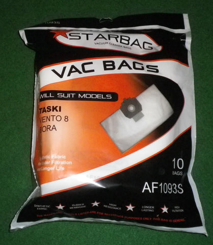 Taski Vento 8 & 15, Bora Synthetic Vacuum Cleaner Bags (Pkt 10) - Part # AF1093S