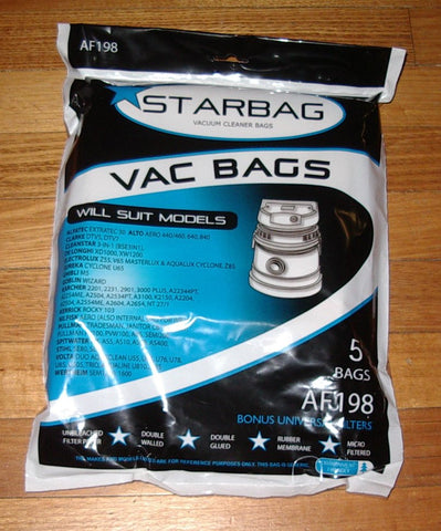Volta Duo Trio U76-U78 Vacuum Cleaner Bags - Part # AF198