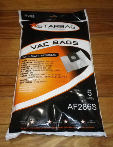 Alto, Pullman, Hako, Hoover, Taski Synthetic Vacuum Cleaner Bags - Part # AF286S