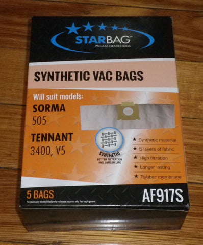 Tennant V5 Compatible Synthetic Vacuum Cleaner Bags (Pkt 5) - Part No. AF917S