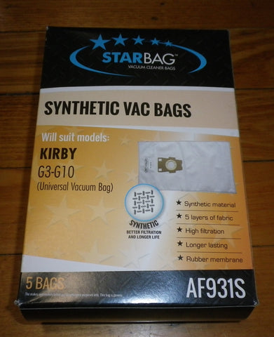 New Type Synthetic Vacuum Cleaner Bags for Kirby Sentria (Pkt 5) Part # AF931S