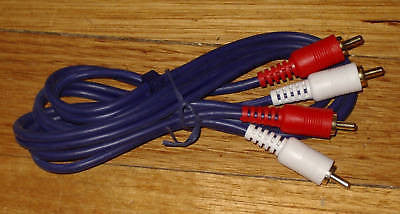 Audio Lead - 2 X RCA Plugs to 2 X RCA Plugs OFC 1.2mtr - Part # RCA60B