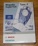 Bosch Ergomax Synthetic High Filtration Vacuum Cleaner Bags - Part No. BBZ41FP