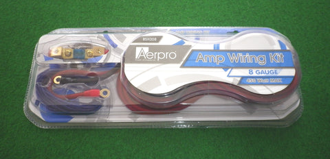 Aerpro 8AWG 450watt Automotive Power Cable Kit for Car Audio - Part # BSX008