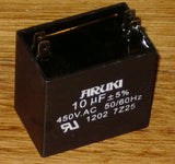 10uF 450Volt Motor Start/Run Capacitor - Part # CAC10UF