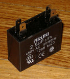 2.5uF 450Volt Motor Start/Run Capacitor - Part # CAC2.5UF