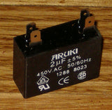 2.0uF 450Volt Motor Start/Run Capacitor - Part # CAC2UF