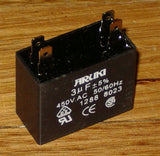 3uF 450Volt Motor Start/Run Capacitor - Part # CAC3UF