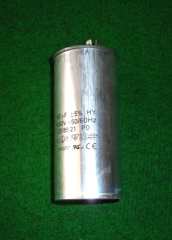 60uF  450Volt AC Motor Start / Run Capacitor - Part # CAP060A