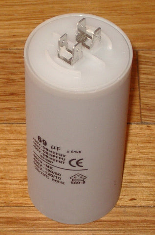 69uF  440Volt Motor Start / Run Capacitor - Part # CAP069
