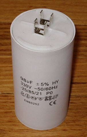 98uF  330Volt Motor Start Capacitor - Part #  CAP098