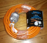 15metre 15amp Orange Extension Cable with 10Amp Plug & Socket - Part # CE1515