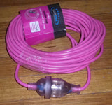 18metre 10amp Pink Extension Cable - Part # CE1810-P