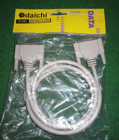 Computer Lead - DB25 Male to DB25 Female Serial Cable - 1.8mtr - Part # CL260
