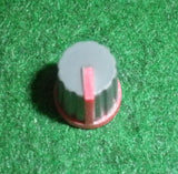 17mm x 13mm Diam Instrument / Audio Knob with 6mm Splined Shaft - Part # CR-MS-1