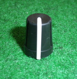 15mm x 13mm Diam Instrument / Audio Knob with 6mm D-Shape Shaft - Part # CR-R4-7