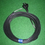 Universal Vacuum Flat 2Wire Mains Power Cord & Plug 9mtr - Part # CR9-2FLAT