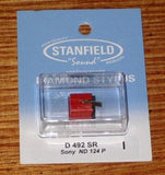 Sony ND124P, ND125P Compatible Turntable Stylus - Stanfield Part # D492SR