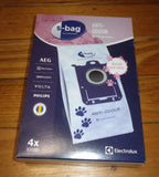Genuine Electrolux Anti-Odour S-Bag Vacuum Bags for Pets - Part # E203S