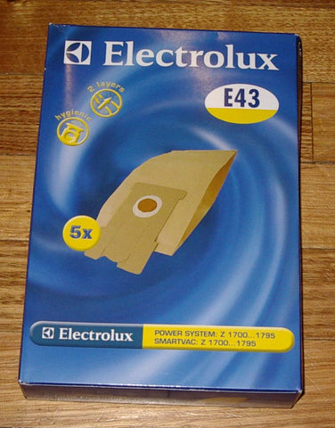 Electrolux Z1700 Series Vacuum Cleaner Bags - Part # E43