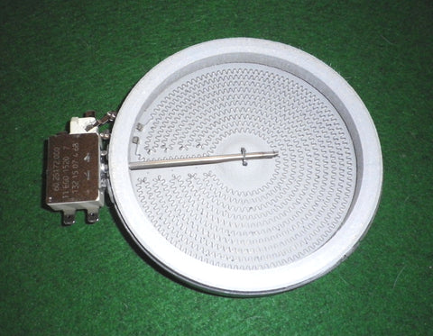 Ego 165mm 1200Watt Single Ceran Top Hilight Hotplate - Part # EF10.54111.004