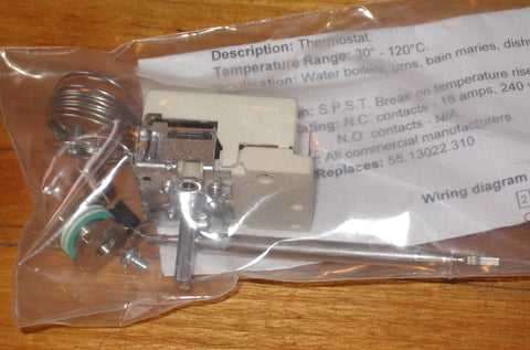 Ego 30-120 degreeC Water Urn Thermostat with Gland - Part # EF55.18022.020